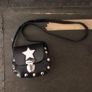Mini micro vintage leather studded purse